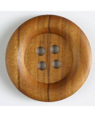 Holzknopf   - Größe: 23mm - Farbe: braun - Art.-Nr.: 250223