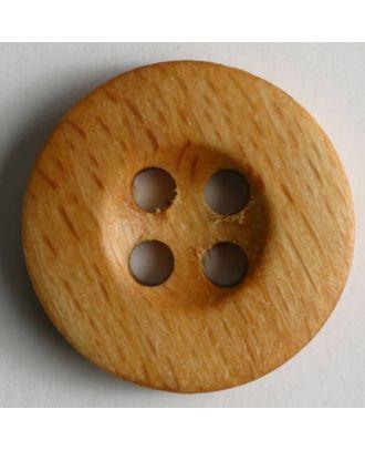 Holzknopf, 4 Löcher in runder Mulde - Größe: 25mm - Farbe: braun - Art.Nr. 260517