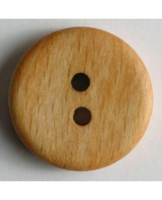 Holzknopf, klassische Form mit 2 Löchern - Größe: 28mm - Farbe: braun - Art.Nr. 280733
