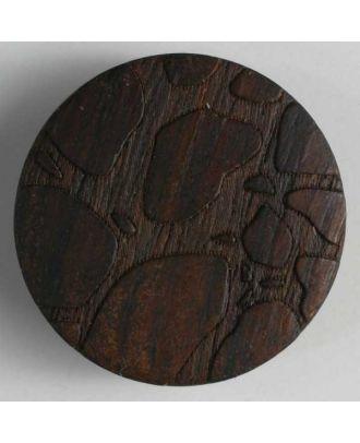 auffallend schöner Holzknopf - Größe: 23mm - Farbe: braun - Art.Nr. 260937