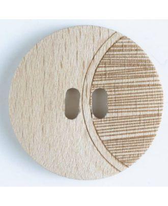 Holzknopf   - Größe: 20mm - Farbe: braun - Art.-Nr.: 261084