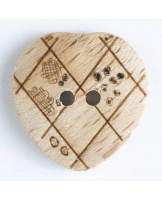Holzknopf   - Größe: 15mm - Farbe: braun - Art.-Nr.: 231608