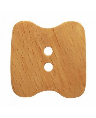 Holzknopf mit 2 Löchern - Größe: 34mm - Farbe: braun - Art.Nr. 370870