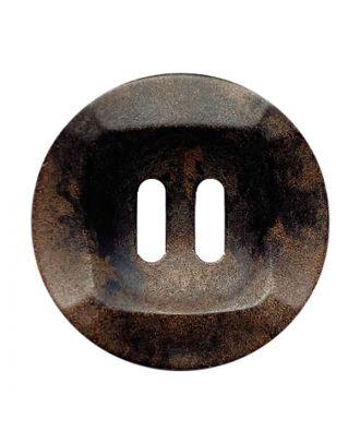 Holzknopf rund mit 2 Löchern - Größe:  20mm - Farbe: braun - Art.Nr.: 331245
