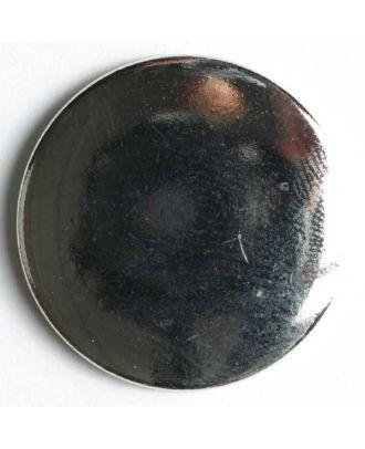 Blazerknopf, vollmetall mit Glanzeffekt und Öse - Größe: 28mm - Farbe: silber - Art.Nr. 350104