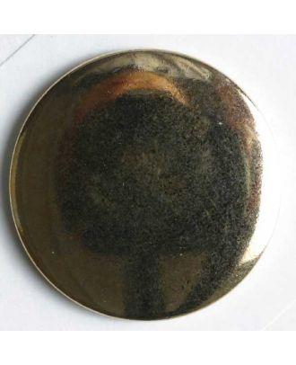 Blazerknopf, vollmetall mit Glanzeffekt und Öse - Größe: 28mm - Farbe: gold - Art.Nr. 370026