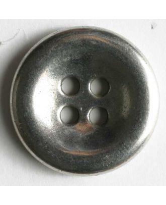 Jeansknopf, vollmetall mit Mulde, 4-Loch - Größe: 18mm - Farbe: altsilber - Art.Nr. 201025