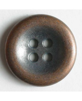 Jeansknopf, vollmetall mit Mulde, 4-Loch - Größe: 18mm - Farbe: kupfer - Art.Nr. 201026