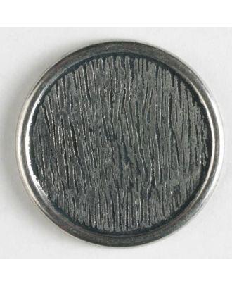 Vollmetallknopf    - Größe: 15mm - Farbe: altsilber - Art.-Nr.: 210582