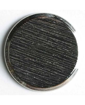 Blazerknopf, vollmetall, strukturiert, flach mit schmalem Rand und Öse - Größe: 23mm - Farbe: silber - Art.Nr. 250392