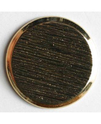 Blazerknopf, vollmetall, strukturiert, flach mit schmalem Rand und Öse - Größe: 23mm - Farbe: gold - Art.Nr. 270216