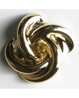 Vollmetallknopf Knoten, mit Öse - Größe: 14mm - Farbe: gold - Art.Nr. 300265