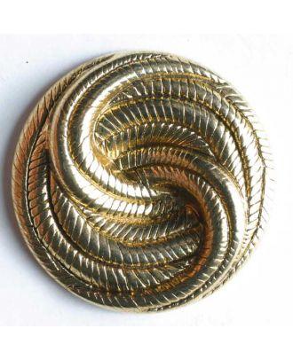 Vollmetallknopf Knoten, mit Öse - Größe: 25mm - Farbe: altgold - Art.Nr. 360166