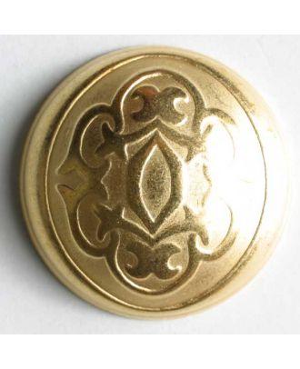 Vollmetallknopf mit viktorianischem Relief und Öse - Größe: 30mm - Farbe: mattgold - Art.Nr. 380029