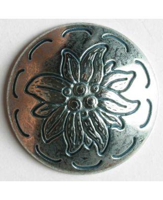 Edelweissknopf, vollmetall - Größe: 25mm - Farbe: altsilber - Art.Nr. 350233