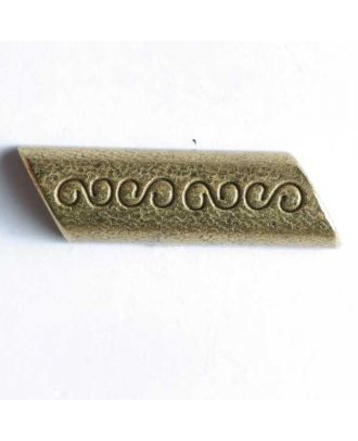 Edelweiss Vollmetall-Knebel, geätzt - Größe: 30mm - Farbe: mattgold - Art.Nr. 380032