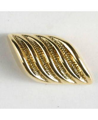 Vollmetall-Knebelknopf mit Rippen und Öse - Größe: 23mm - Farbe: echt vergoldet - Art.Nr. 340326