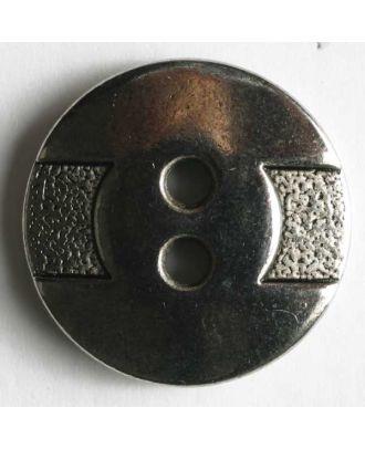 Vollmetallknopf, mit strukturiertem angedeutetem Gürtel, 2-Loch - Größe: 14mm - Farbe: altsilber - Art.Nr. 240906
