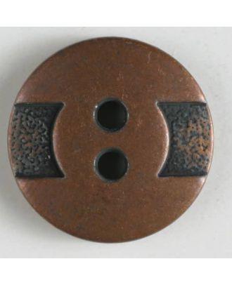 Vollmetallknopf    - Größe: 14mm - Farbe: kupfer - Art.-Nr.: 240907