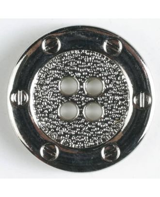 Vollmetallknopf    - Größe: 15mm - Farbe: silber - Art.-Nr.: 240950