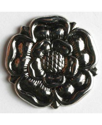Rosenknopf, vollmetall - Größe: 19mm - Farbe: altsilber - Art.Nr. 231367