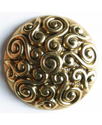 Vollmetallknopf, mit kunstvollem Design - Größe: 23mm - Farbe: altgold - Art.Nr. 340448
