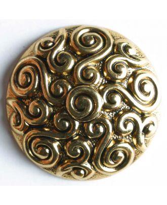 Vollmetallknopf, mit kunstvollem Design - Größe: 28mm - Farbe: altgold - Art.Nr. 370177