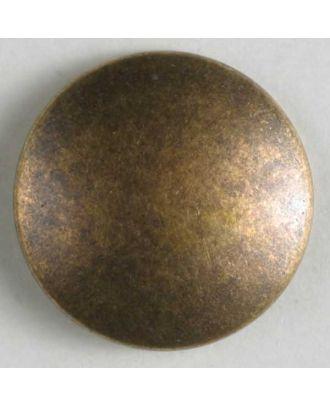 Vollmetallknopf, unverfälscht schlicht, mit Öse - Größe: 23mm - Farbe: altmessing - Art.Nr. 330615