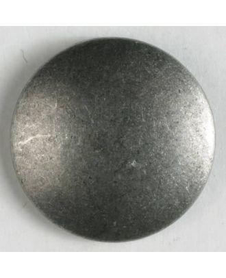 Vollmetallknopf, unverfälscht schlicht, mit Öse - Größe: 23mm - Farbe: altzinn - Art.Nr. 330692