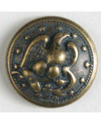 Metallknopf Greifvogel mit Öse - Größe: 19mm - Farbe: altmessing - Art.Nr. 310764