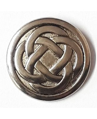 Keltischer Knoten - Knopf mit Öse - Größe: 23mm - Farbe: silber - Art.Nr. 330523