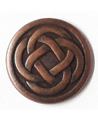 Keltischer Knoten mit Öse - Größe: 23mm - Farbe: kupfer - Art.Nr. 331146