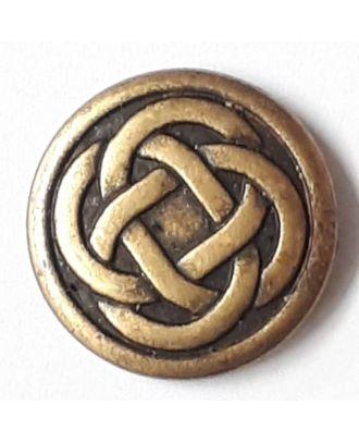Keltischer Knoten mit Öse - Größe: 23mm - Farbe: altmessing - Art.Nr. 331147
