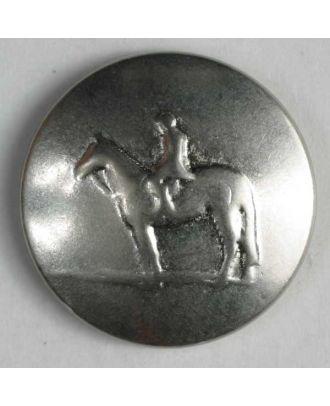 Reiterknopf, vollmetall  - Größe: 15mm - Farbe: mattsilber - Art.Nr. 241076