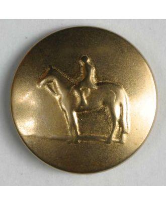 Reiterknopf, vollmetall  - Größe: 20mm - Farbe: mattgold - Art.Nr. 320535