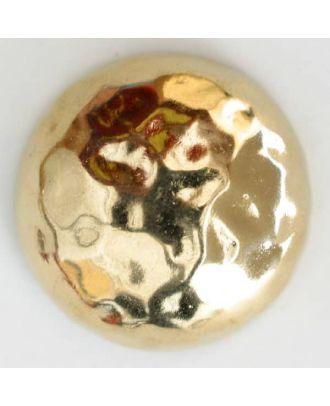 Vollmetallknopf, in Form einer Halbkugel, Oberfläche strukturiert mit schimmernden Glanzeffekten - Größe: 30mm - Farbe: vergoldet - Art.Nr. 380142