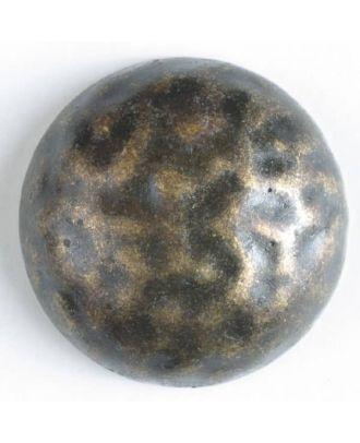 Vollmetallknopf, in Form einer Halbkugel, Oberfläche strukturiert mit schimmernden Glanzeffekten - Größe: 30mm - Farbe: altmessing - Art.Nr. 370300