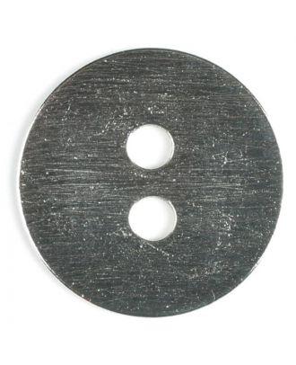 Vollmetallknopf edel und schlicht, 2-Loch - Größe: 38mm - Farbe: silber - Art.Nr. 400048