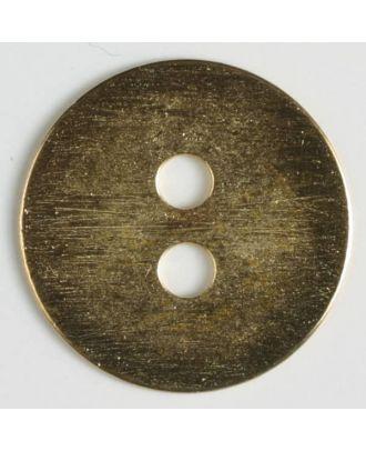 Vollmetallknopf edel und schlicht, 2-Loch - Größe: 28mm - Farbe: echt vergoldet - Art.Nr. 380144