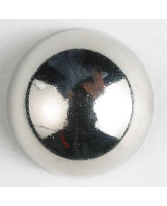 Vollmetallknopf - Größe: 30mm - Farbe: silber - Art.-Nr.: 370354