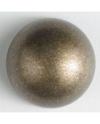 Vollmetallknopf, halbrund mit Öse - Größe: 25mm - Farbe: altmessing - Art.Nr. 360463