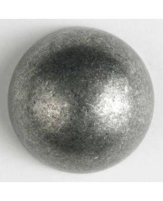 Vollmetallknopf, halbrund mit Öse - Größe: 25mm - Farbe: altzinn - Art.Nr. 360464