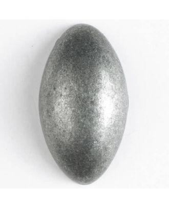 Vollmetallknopf, elegante ovale Form mit Öse - Größe: 34mm - Farbe: altzinn - Art.Nr. 380201