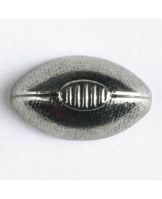 Vollmetallknopf augenförmig - Größe: 15mm - Farbe: altsilber - Art.Nr. 241180