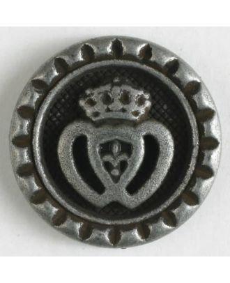 Metallknopf mit Öse - Größe: 15mm - Farbe: altzinn - Art.Nr. 241204