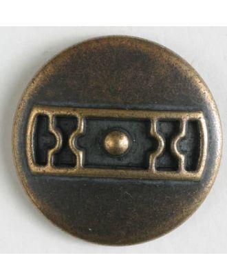 Metallknopf Türriegel mit Öse - Größe: 25mm - Farbe: altmessing - Art.Nr. 370590