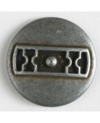 Metallknopf Türriegel mit Öse - Größe: 25mm - Farbe: altzinn - Art.Nr. 370591