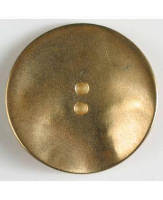 Vollmetallknopf, unverfälscht schlicht, 2-loch - Größe: 40mm - Farbe: mattgold - Art.Nr. 420064
