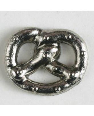 Metallknopf Breze mit Öse - Größe: 20mm - Farbe: altsilber - Art.Nr. 310788