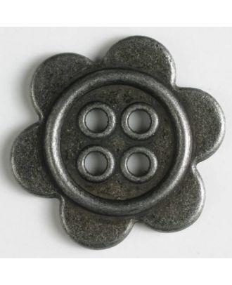 Metallknopf mit Löchern - Größe: 28mm - Farbe: altzinn - Art.Nr. 370641